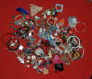 Job Lot of Single Earrings for Jewellery Making or Craftwork Spares Repairs