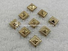 50 Hotfix Bügelnieten Nieten aufbügeln Quadrat  gold ca.7 mm Karostonebox