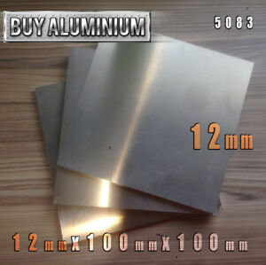 12mm Aluminium Plates / Sheets 100mm x 100mm - 5083