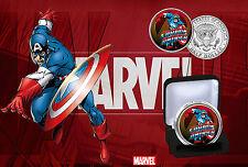 Captain America - Marvel Superheros Limited Edition JFK Half Dollar Coin & COA