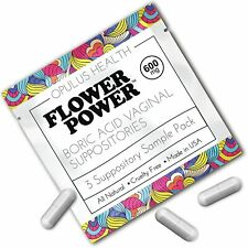 Flower Power Vegan Suppositories 600mg (3 Suppositories, Travel Size)