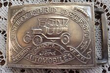 Ford Model T Belt Buckle Brass Henry Ford Detroit Record Year Automobile USA