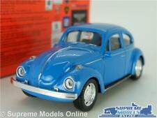 VOLKSWAGEN VW BEETLE MODEL CAR 1:43 SCALE BLUE WELLY NEX 2 DOOR 60'S/70'S K8