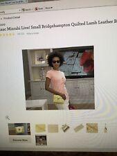 $138 Isaac Mizrahi Small Bridgehampton Quilted Lamb Leather Bag YELLOW  + Chanel