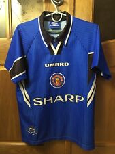 MANCHESTER UNITED 1996 1997 ORIGINAL SOCCER FOOTBALL SHIRT JERSEY THIRD KIDS sZ