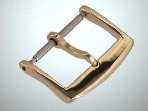 18mm 18ct. Gold Schliesse für Lederband Rosé Gold 750 18kt