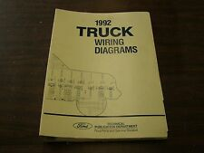 OEM Ford 1992 Truck Pickup Wiring Diagram Shop Manual Book F150 F250 F350