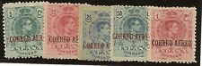 Edifil  292/296*  Alfonso XIII  Aéreo  1920   Serie completa    NL685