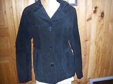 veste CACHE CACHE daim noir .taille 3. (8/L/F)