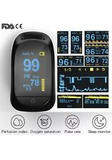 Finger Pulse Oximeter Blood Oxygen Saturation Heart Rate Monitor FDA Certified