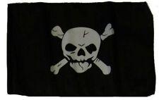 "12x18 12""x18"" Jolly Roger Pirate Crossbones Sleeve Flag Garden"