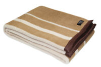 "Alpaca Wool Blend Bicolor Woven Blanket Throw With Trim - 79"" x 60"""
