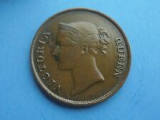 East India Co., One Cent 1845, Victoria, Good Condition.