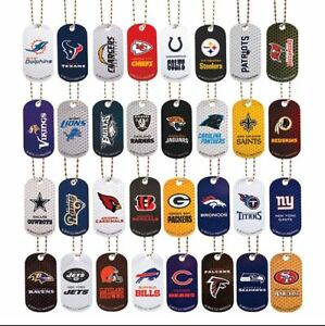 NFL Football Set Metal Dog Tags all 32 Teams FREE SHIPPING Only 46 cents each!