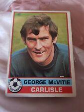 Topps Football Card 1977/1978 X George Mcvitie X Carlisle X 62 X