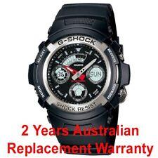 CASIO G-SHOCK MEN WATCH AW-590-1A FREE EXPRESS BLACK AW590-1ADR 2-YEARS WARRANTY