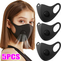 5X Face Shield Cover w/ Filter Valve Washable Air Purify Smog Pollen Allergy PPE
