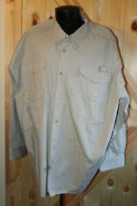 Men's Columbia PFG fishing shirt long sleeve beige 4X button down