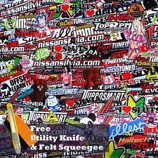 "*12""x60"" JDM #IL Anime Cartoon Stickerbomb Car Vinyl Sticker Wrap Decal Sheet"