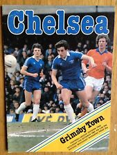 Chelsea v Grimsby Town 1980/81 programme