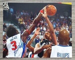 Ben Wallace Signed 8x10 Photo Detroit Pistons NBA Champion NBA HOF LEGEND RAD