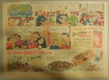 Nestle's Cocoa Ad: Neddy Nestle Overnight Guest! 1940's-50's 11 x 15 inches