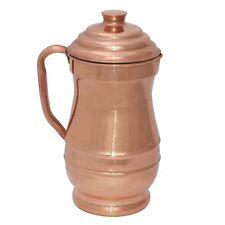 Glorious Pure Copper Smooth Water Jug Metallobjekte Antiquitäten & Kunst Copper Pitcher For Ayurvedic Health Benefit 100%