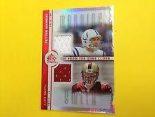 2005 Reflections Peyton Manning Alex Smith dual jersey card  jsy gu   Colts