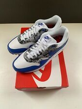 newest fcdf0 3b988 Mens Size 10 Nike x Atmos Air Max 1 Print White Royal Grey DS SNKRS AQ0927