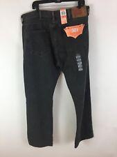 Men Levi's 501 original fit straight leg button fly black jeans size 42 x 32 New