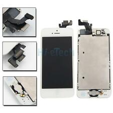 LCD Screen Touch Digitizer Assembly & Home Button Frame for iPhone 5 White
