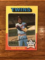 1975 Topps Rod Carew Minnesota Twins #600 Baseball Card