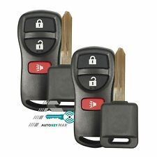 2 New Keyless Entry Remote & Chip Transponder Car Key for Nissan Xterra Versa