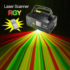 SUNY Remote DMX 200mW RGY Laser Stage Lighting Scanner DJ Dance Party Show Light