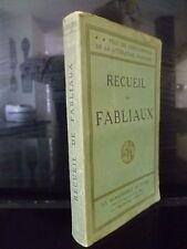 RECUEIL DE FABLIAUX LA RENAISSANCE DU LIVRE J.GILLEQUIN PARIS SD IN 16