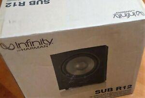 """Brand New Infinity by HARMAN SUB R12 12"""" 300W Powered Subwoofer Bass 600W peak"""
