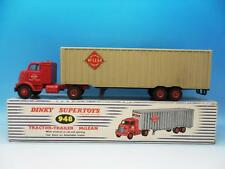 DINKY TOYS TRACTOR TRAILER MCLEAN RED CAB & FAWN TRAILER 948 V GOOD BOXED