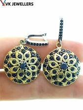 Sterling Silver Onyx Earrings E1020 Turkish Ottoman Handmade Jewelry 925