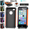 For Apple iPhone 4|5|5C Protective Dual Layer Case Anti-Shock Slim Hybrid Cover