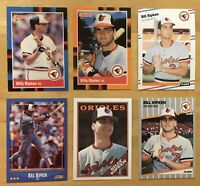 Billy Ripken Lot Of 6 Cards With 1989 Fleer Black Box Error Card #616