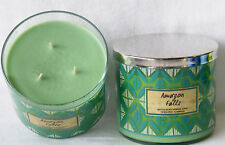 2 Amazon Falls 3 Wick Scented Candles Bath & Body Works 14.5 Oz