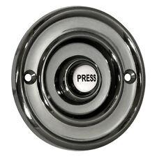"Wired Flush Fitting Door Bell Push, 76mm (3""), Antique Black, Model 2207P2BK"