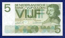 Netherlands, 1966 Five Gulden Banknote (Ref. b0781)