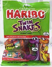 Haribo Twin Snakes Sweet & Sour Gummi Candy 5 oz Gummy