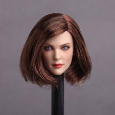 GACTOYS GC006B Female Girl Short Hair Head Sculpt 1/6th Blue Eyes Head Carving