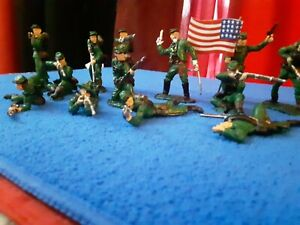 Classic Toy Soldiers BERDANS  Sharpshooters  Civil War Union Army 1/32...