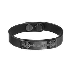 Guess Armband UMB81010 Herren Schwarzes Lederarmband Black Man NEU & OVP