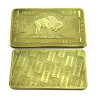 1 oz One Troy Ounce USA American Buffalo .999 Fine Brass Bullion Bar Ingot