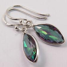Amazing MYSTIC QUARTZ Gemstones Fabulous Earrings 925 Sterling Silver FINE EDH
