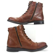GBX Brando Men's Lace Up Side Zip Boots Brown Size 8 M